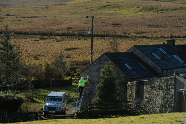 EE believes the antenna could connect 80,000 Scottish homes to superfast internet speeds (Mark Runnacles/PA)