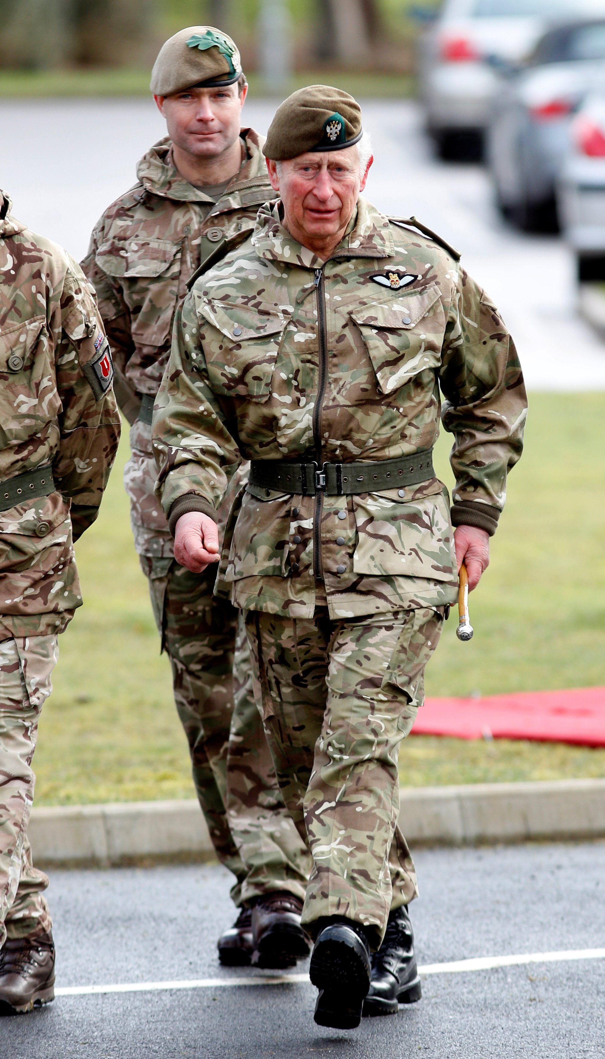The Prince of Wales during his visit to the 1st Battalion the Mercian Regiment