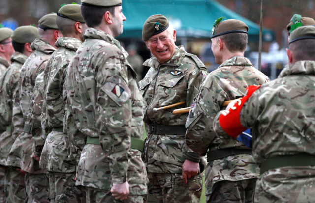 The Prince of Wales  visits the 1st Battalion the Mercian Regiment (Peter Nicholls/PA)