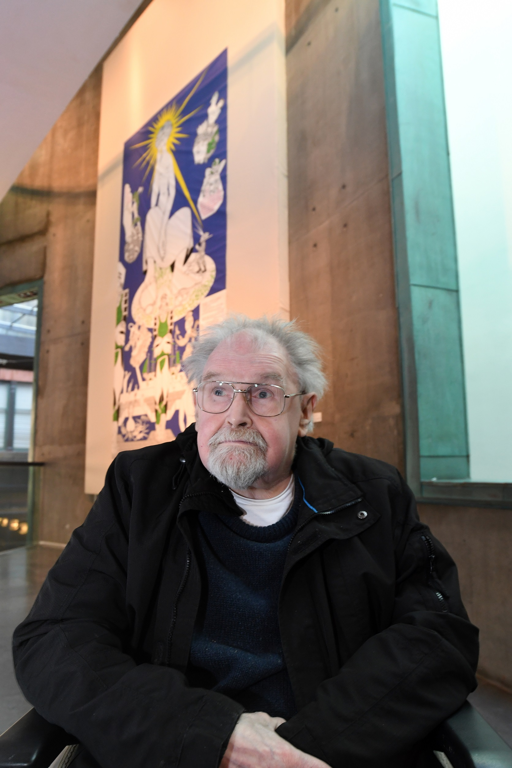 Alasdair Gray at the unveiling of the Facsimilization exhibition at The Lighthouse in Glasgow (Glasgow City Council/PA)