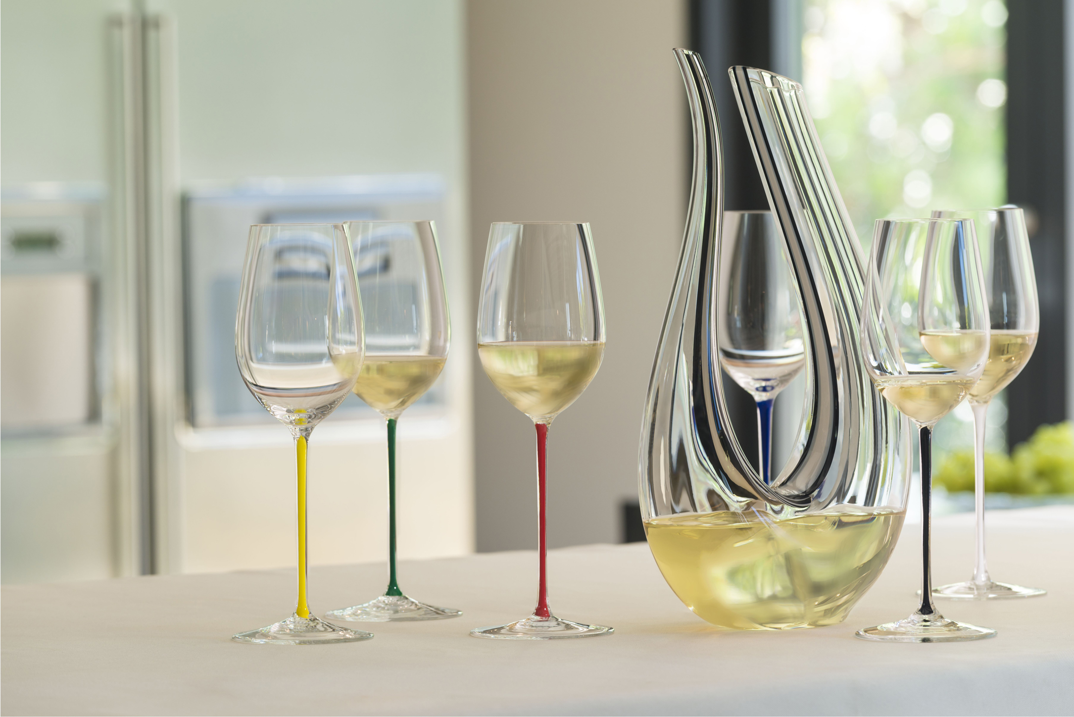 Riedel stemware from the Fatto A Mano collection