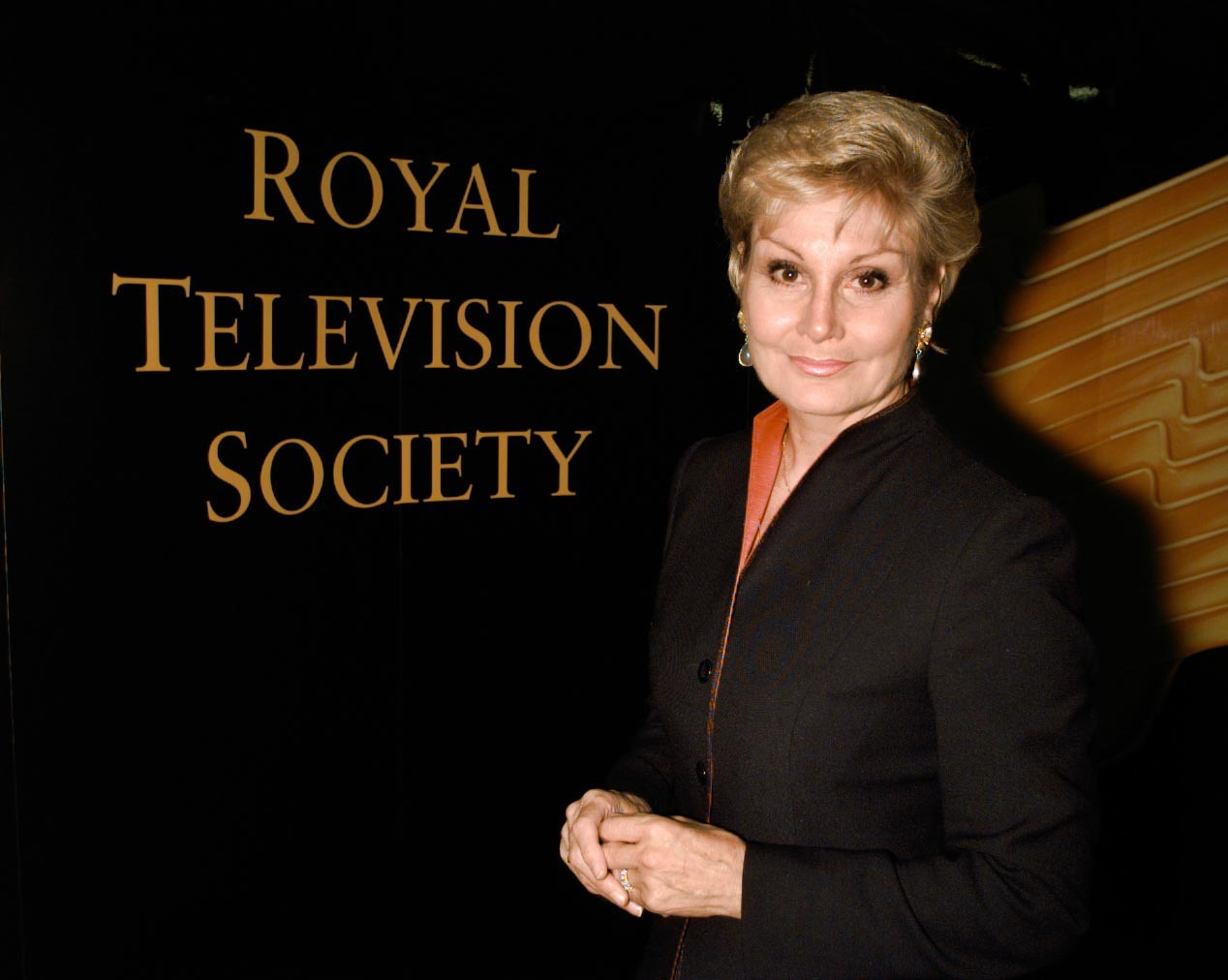 Angela Rippon at the British Academy of Film and Television Arts in London, where she hosted a ceremony in 2000. (Peter Jordan/PA)