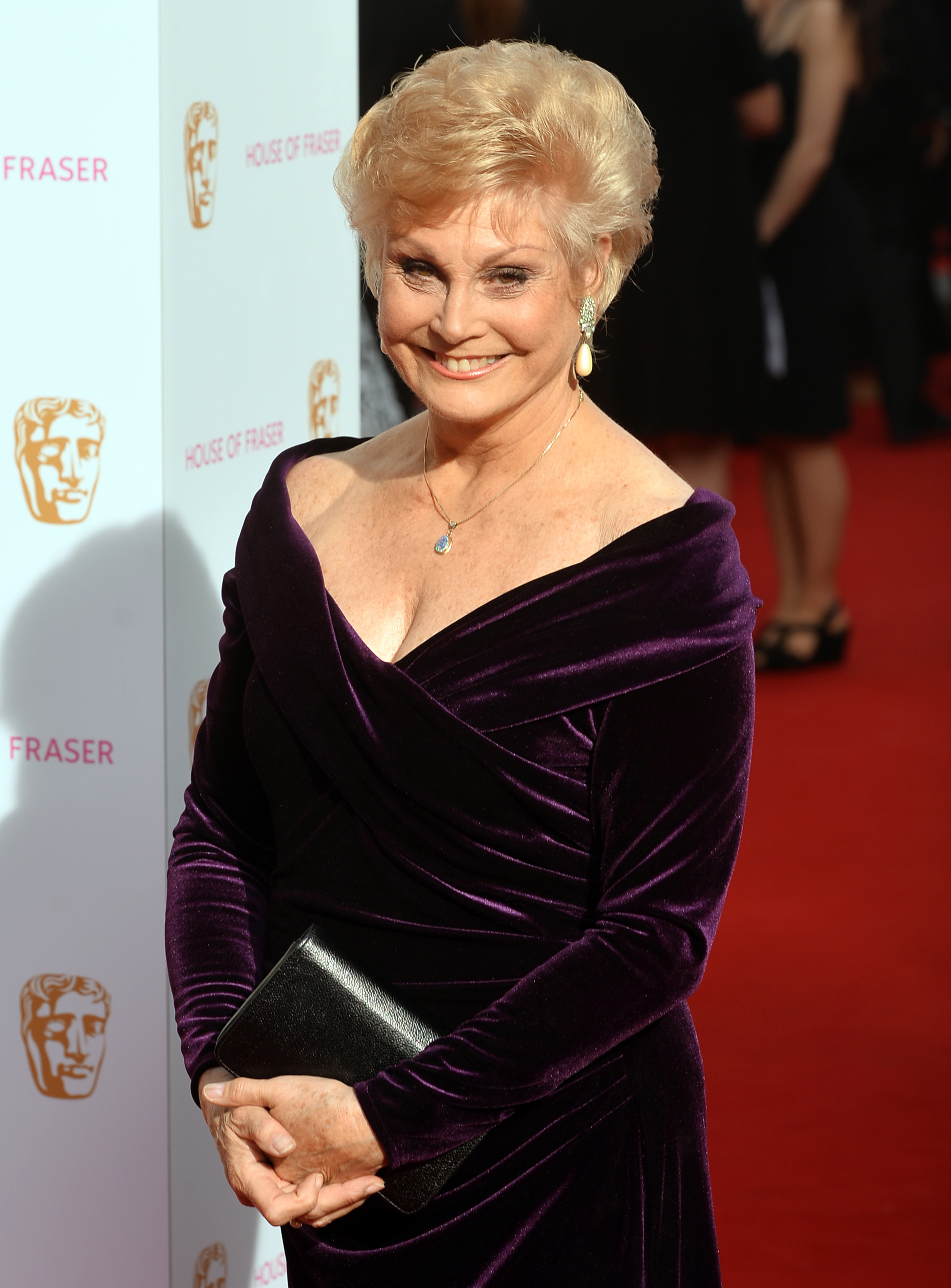 Angela Rippon arrives for the House of Fraser British Academy of Television Awards n London 2015. (Hannah McKay/PA)