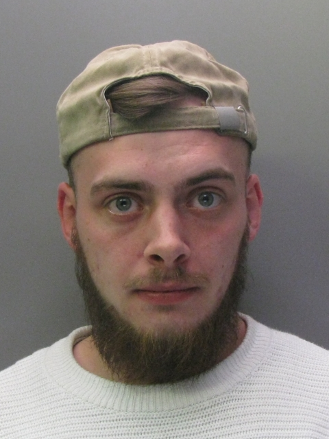 Jacob Simpkin, 24, was jailed at Cambridge Crown Court for four years for robbery. (Cambridgeshire Police/ PA)