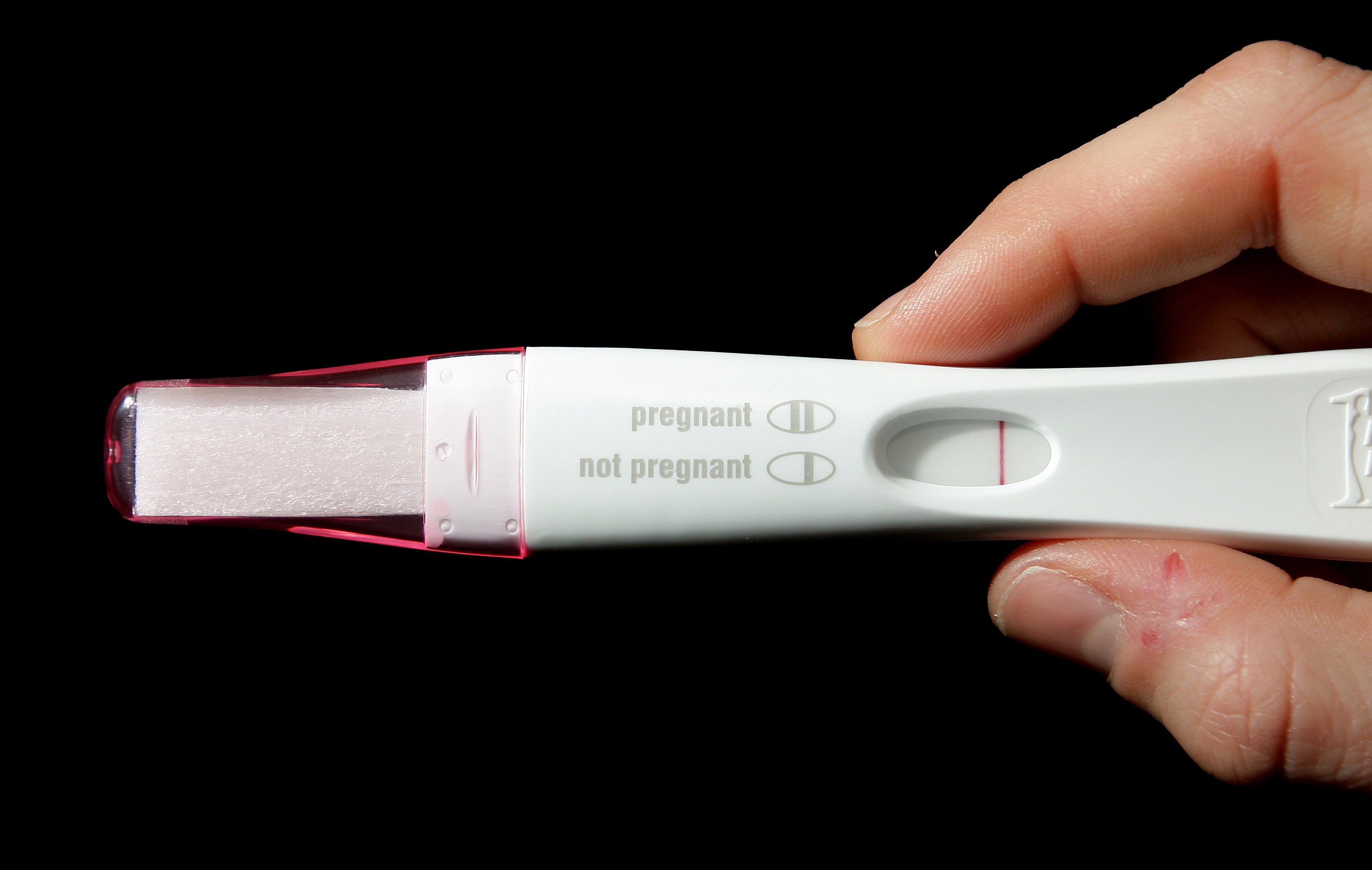 negative pregnancy test (Dominic Lipinski/PA)
