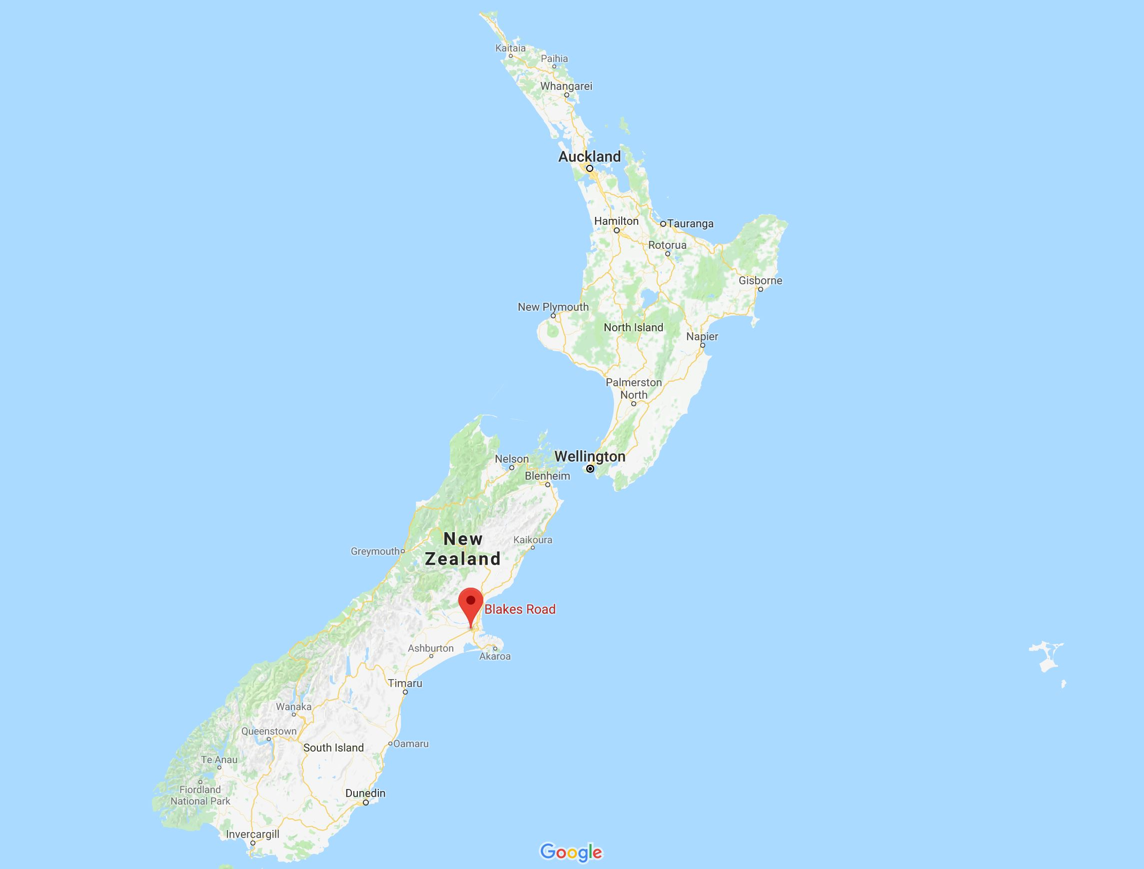 The location of the incident (Google Maps)