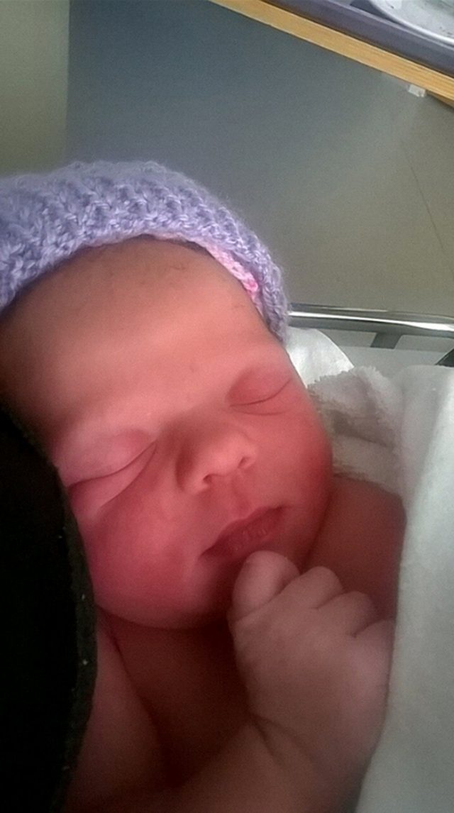 Janey shortly after she was born (PA Real Life/Collect)