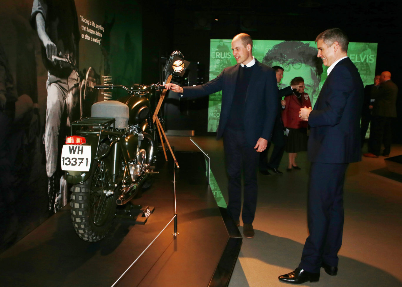 William admires the Triumph TR6 made famous by Steve McQueen in The Great Escape (Ian Vogler/Daily Mirror/PA)