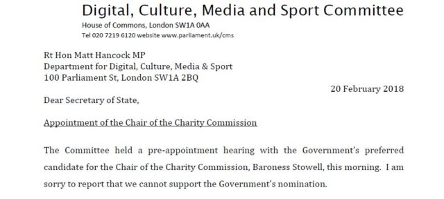 Committee Refuses To Approve Appointment Of New Charity Commission