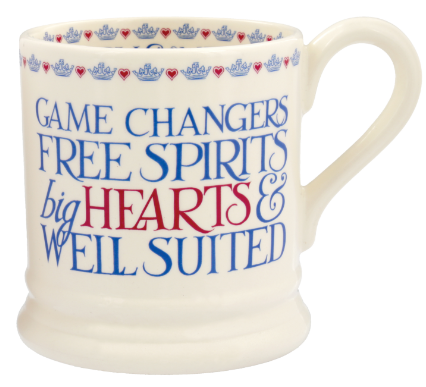 The back of the mug features a tribute to the couple (Emma Bridgewater/PA)