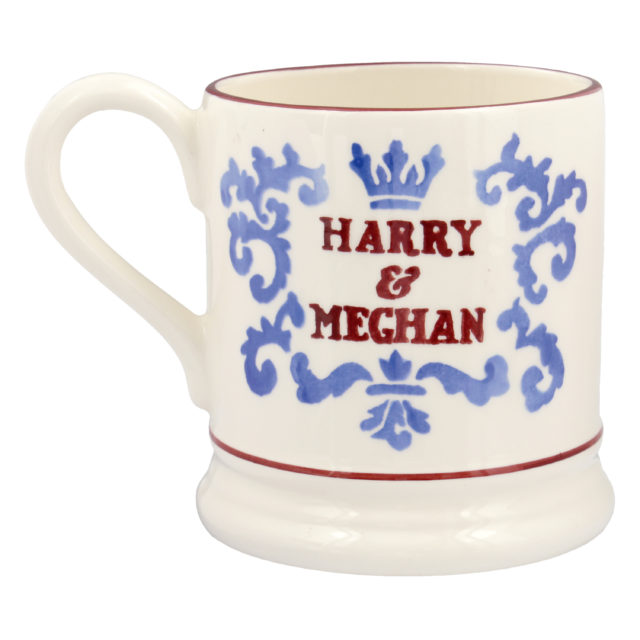 The second half pint Emma Bridgewater royal wedding mug (Emma Bridgewater/PA)
