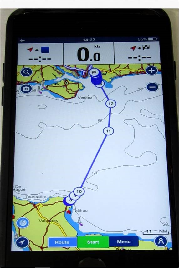 The navigation app found on Dmytro Kruik's phone (Home Office/PA)