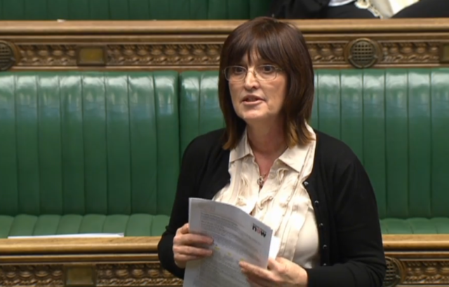 Labour MP Karen Lee addresses the House of Commons during a debate on cancer strategy