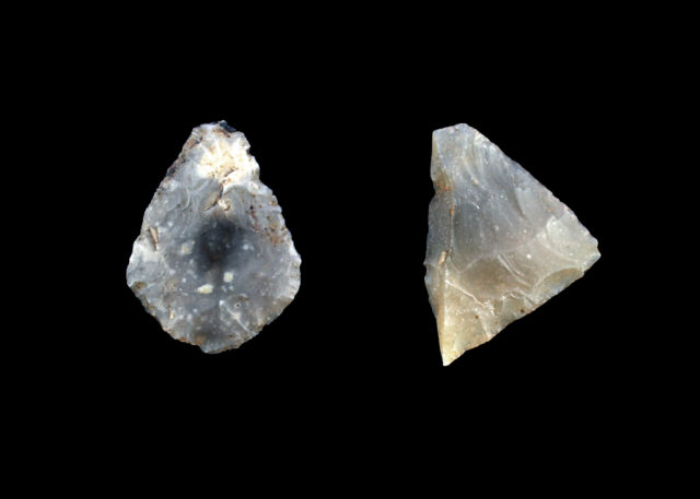 Arrowheads found during excavations for the Aberdeen bypass (Transport Scotland/PA)