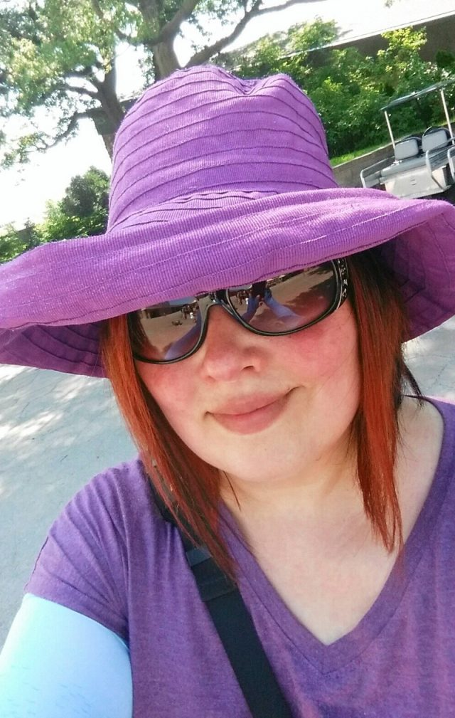 Julie Rohrdanz goes out in a sunhat and glasses (Collect/PA Real Life)