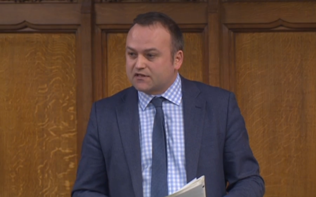 Labour MP Neil Coyle addresses the Commons during a debate on homelessness
