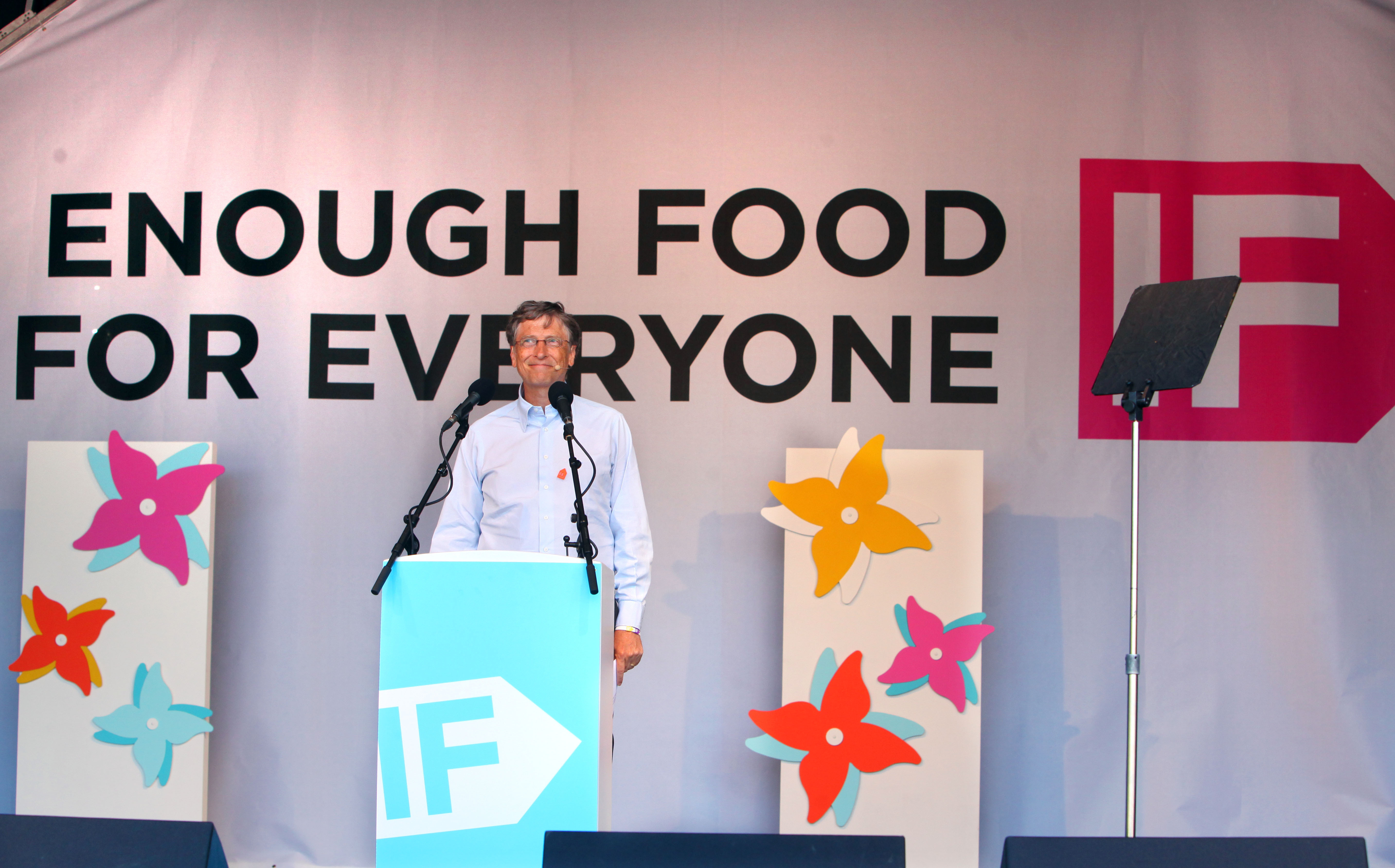 Bill Gates makes a speech during the Big IF London anti-hunger event (Geoff Caddick/PA)