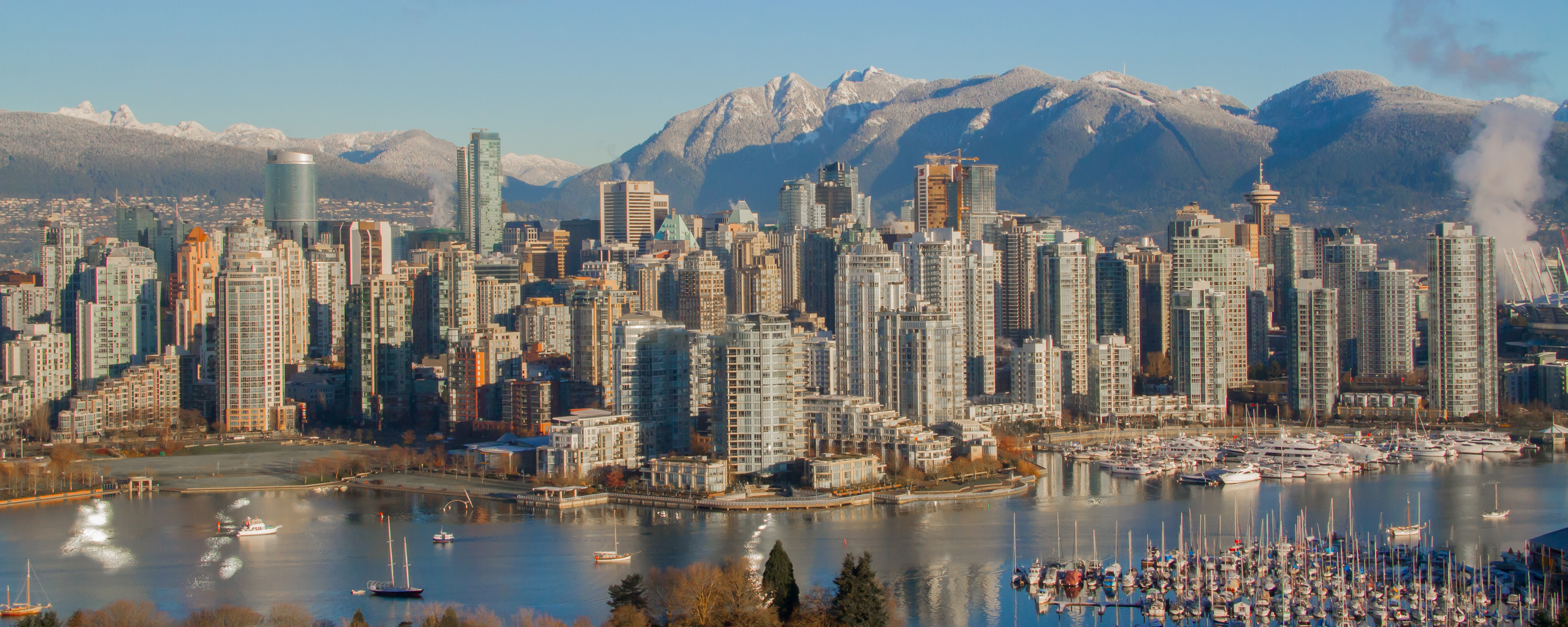 Looking north towards the north shore mountains and False Creek. This is the downtown core of Vancouver B.C. Canada. (PaulDClarke/Thinkstock/PA)