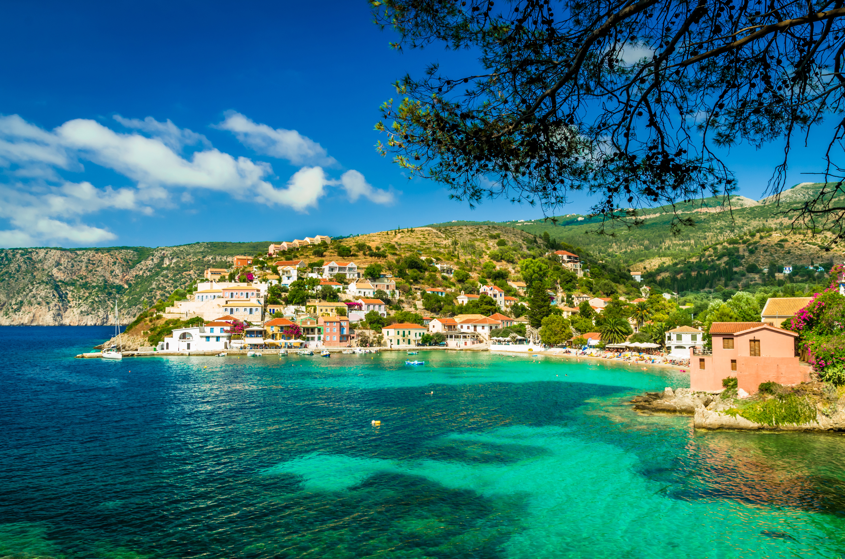 View of bay of Assos village, Kefalonia island, Greece (Lucian Bolca/Thinkstock/PA)