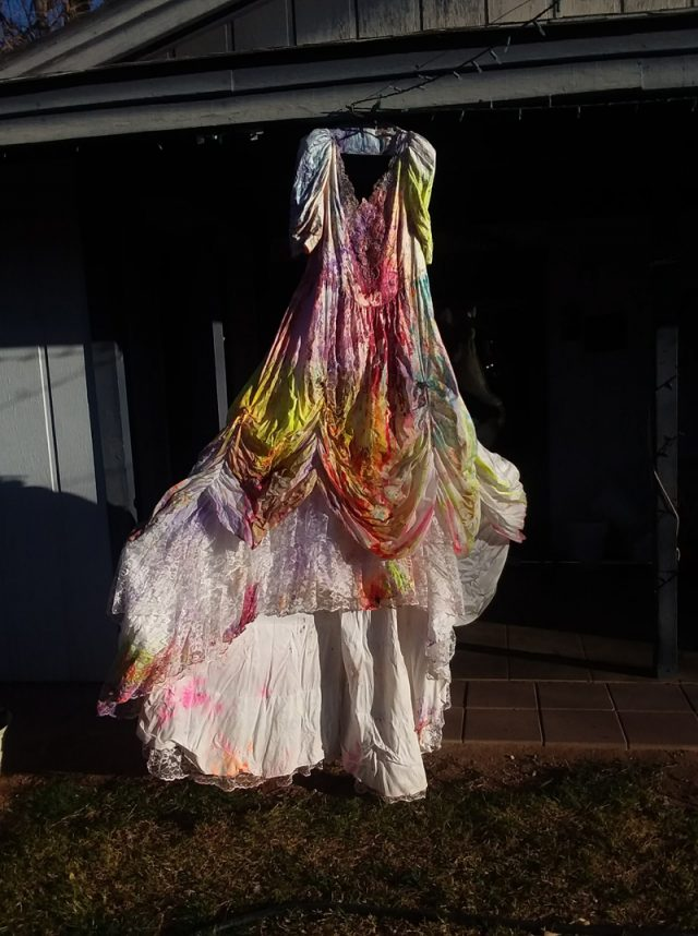 Nancy filled balloons with paint to trash her dress (Collect/PA Real Life)