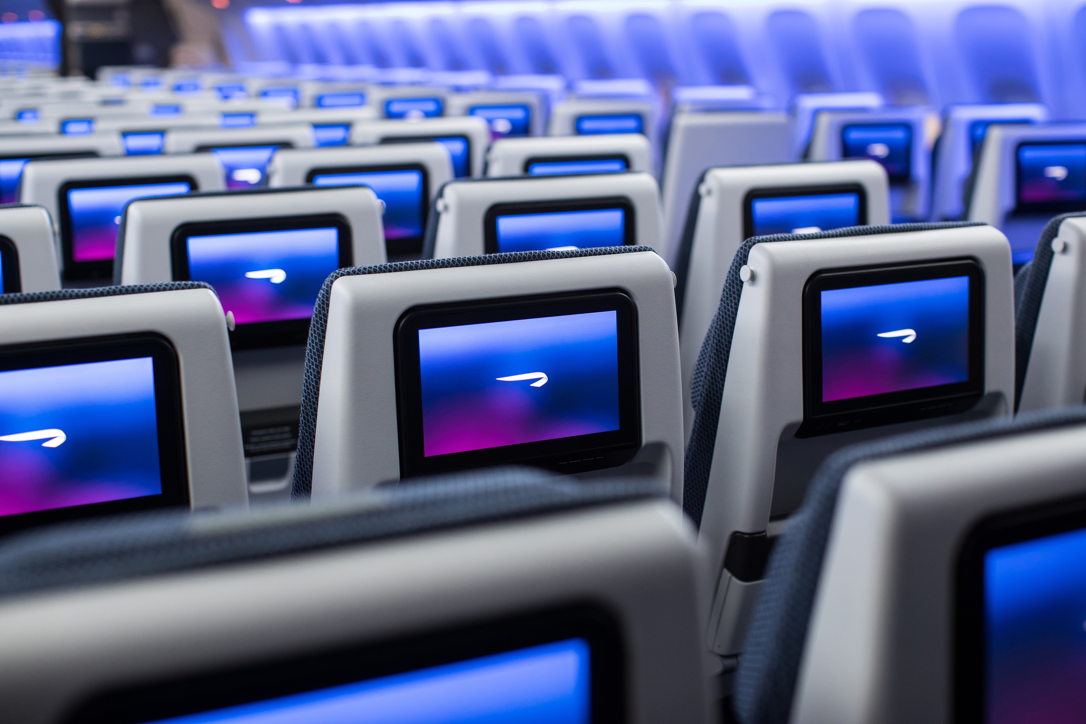 Entertainment screens are 50% larger in the new cabins (Nick Morrish/British Airways/PA)