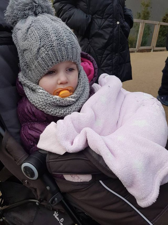 Georgia-May's mum must bring spare blankets and hot water bottles out with her in case her temperature plummets (PA Real Life/Collect)
