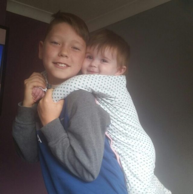 Georgia-May and her big brother Craig (PA Real Life/Collect)