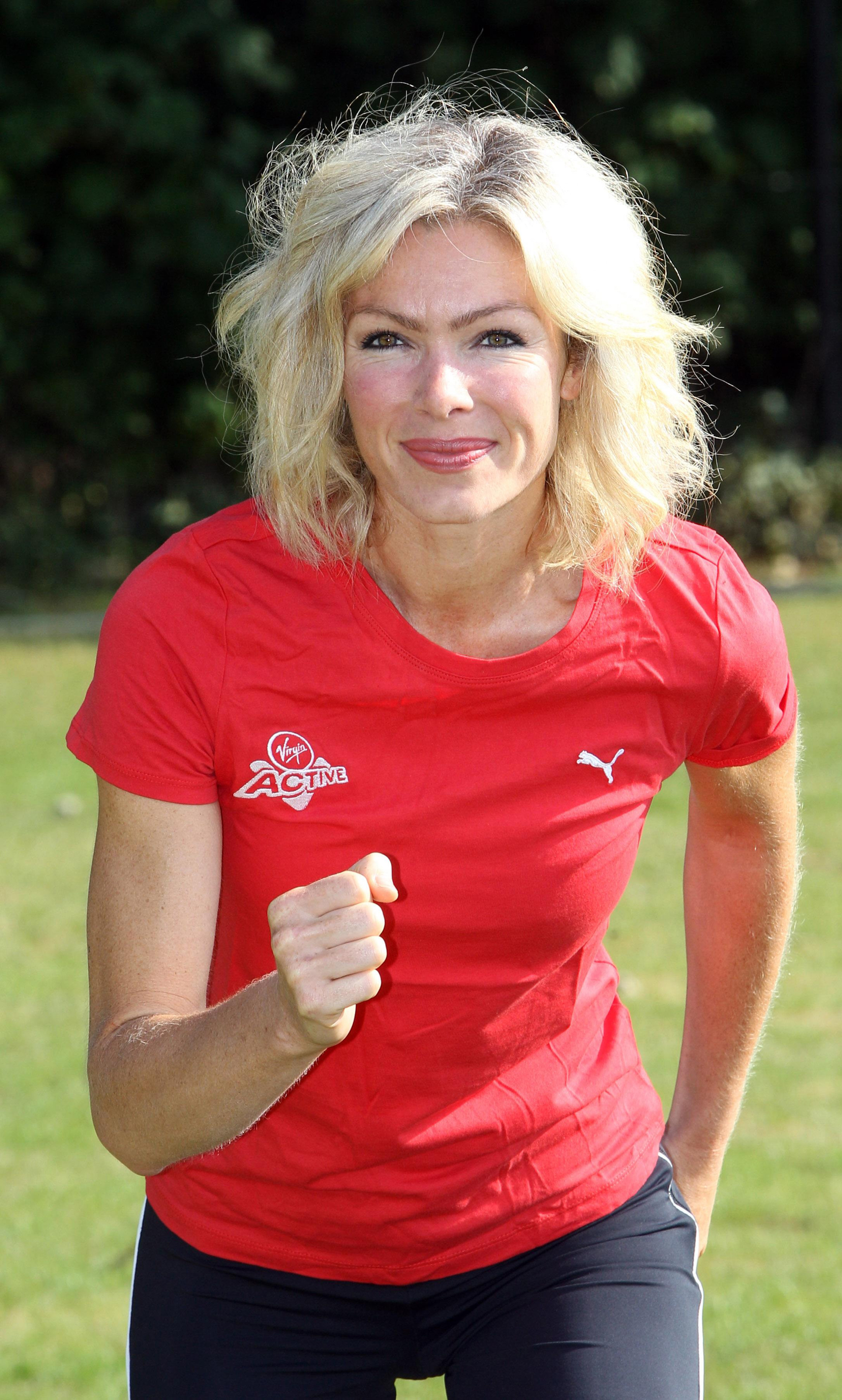 Nell McAndrew helps launch the Virgin Active London Triathlon in West London. (Lewis Whyld/PA)