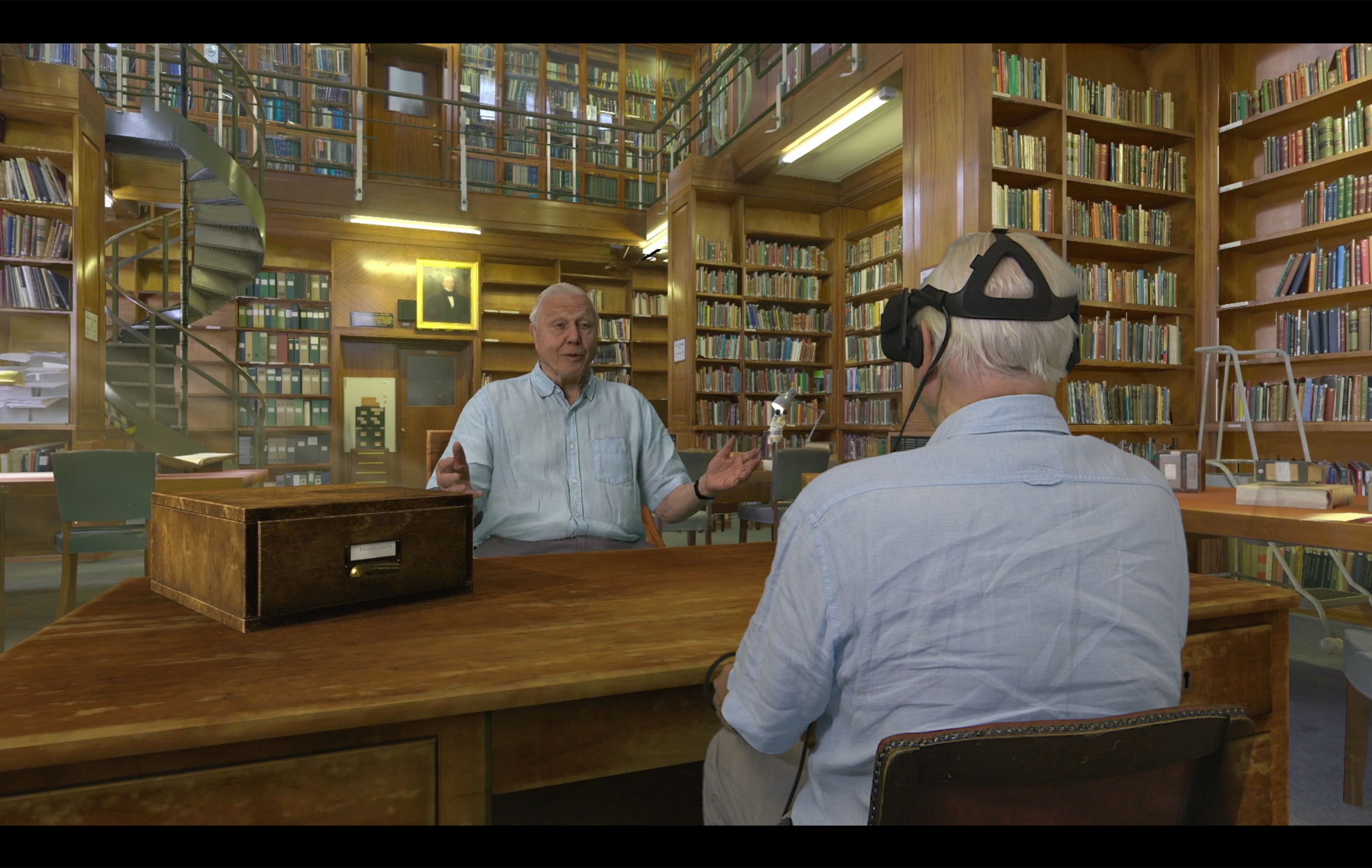 natural history museum vr app air david meets himself