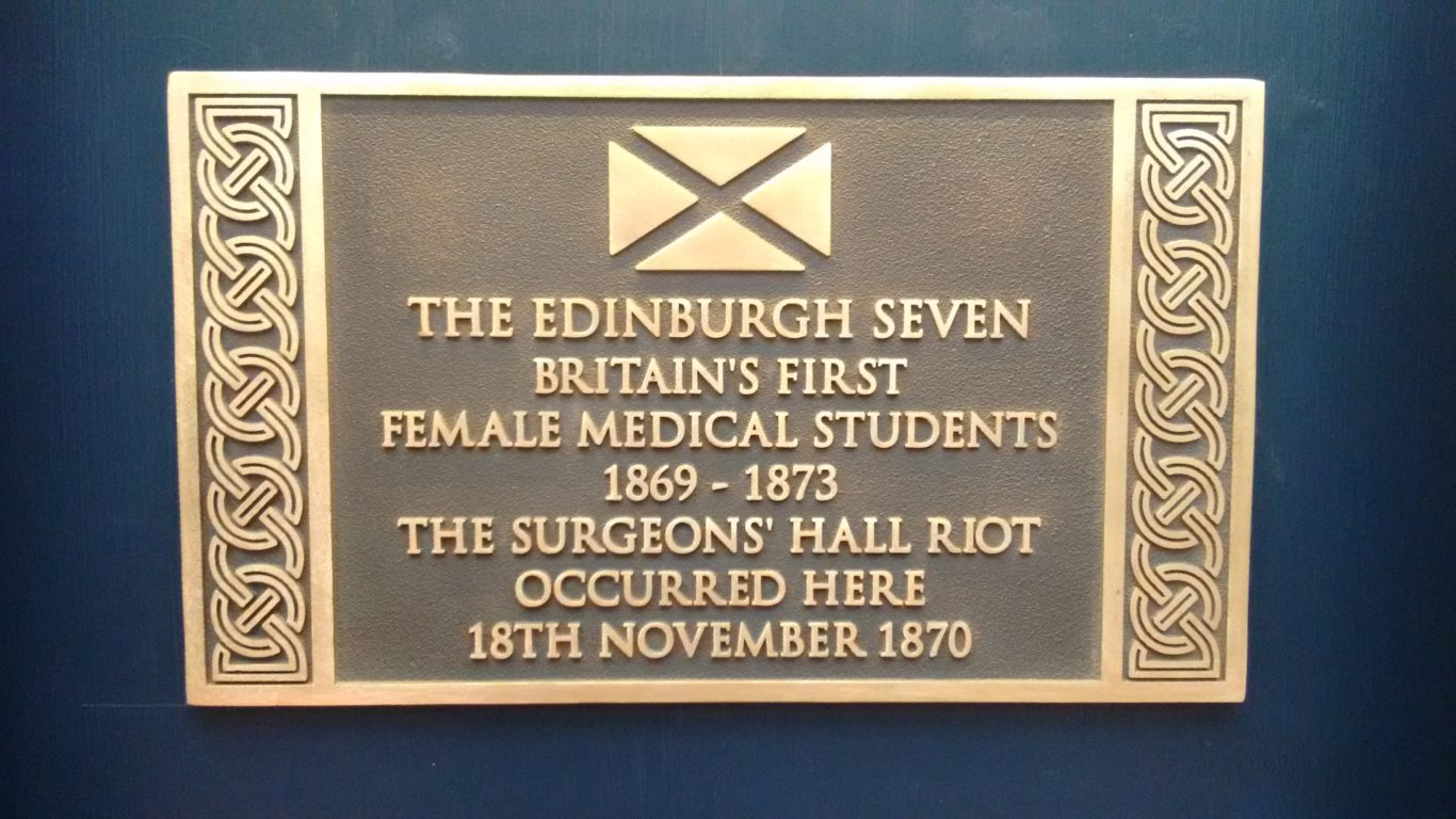 A plaque will be unveiled to the 'Edinburgh Seven' (RCSED/PA)