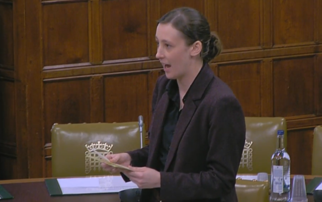 SNP MP Mhairi Black speaks in Westminster Hall