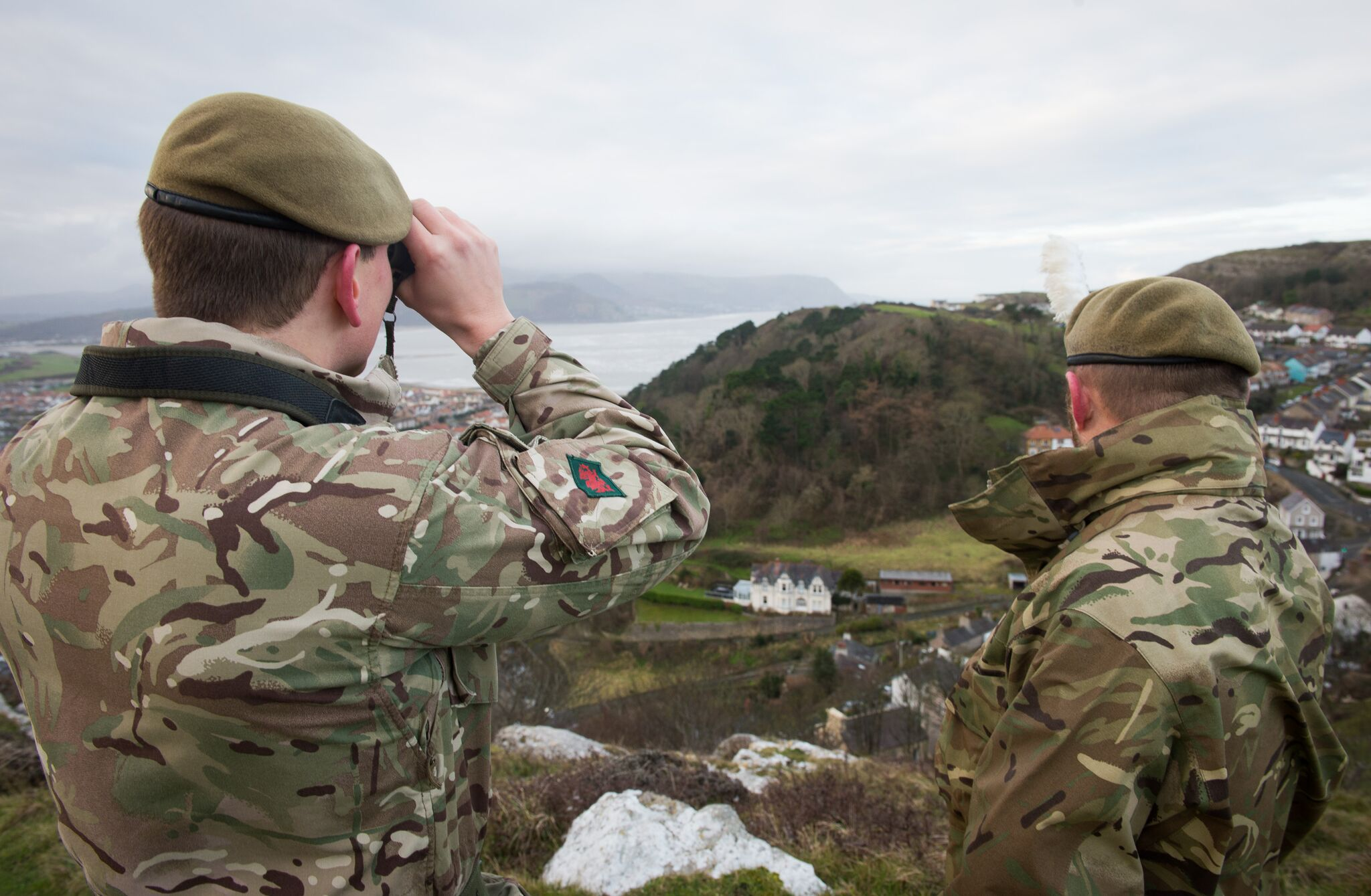 Members of the 3rd Battalion The Royal Welsh on the hunt for their new regimental mascot, Fusilier Shenkin IV, a Kashmir kid goat (Corporal Dek Traylor/PA)