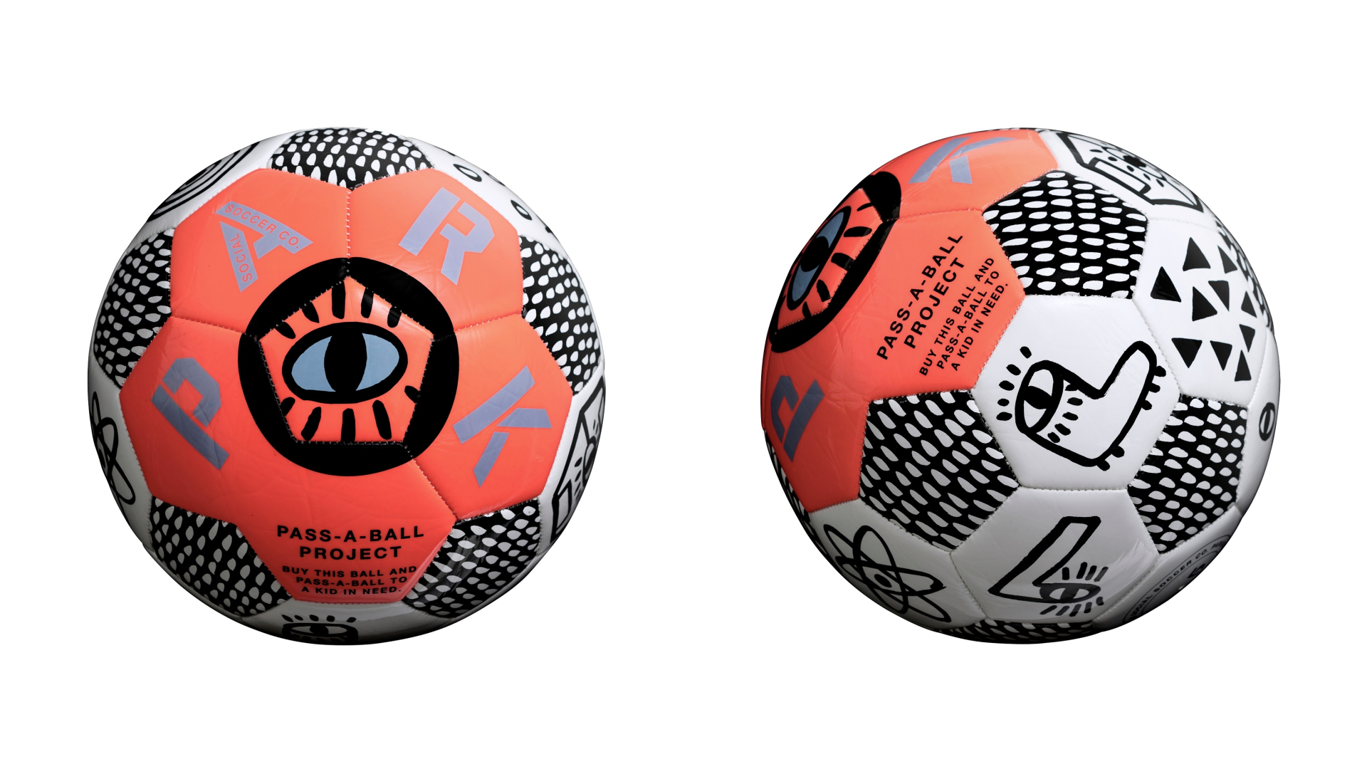 A football designed by PARK Social Soccer Co