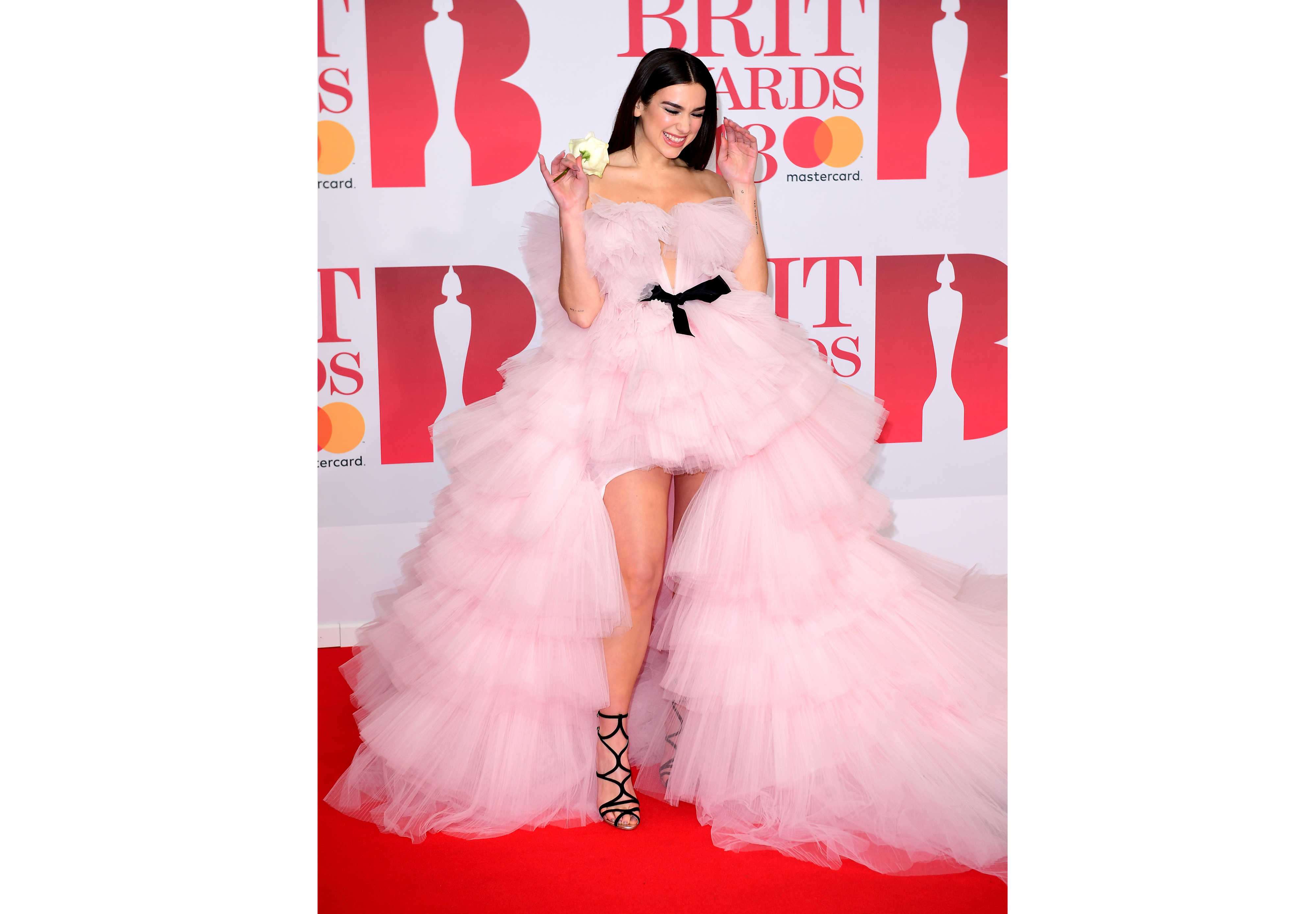 Dua Lipa attending the Brit Awards at the O2 Arena, London.