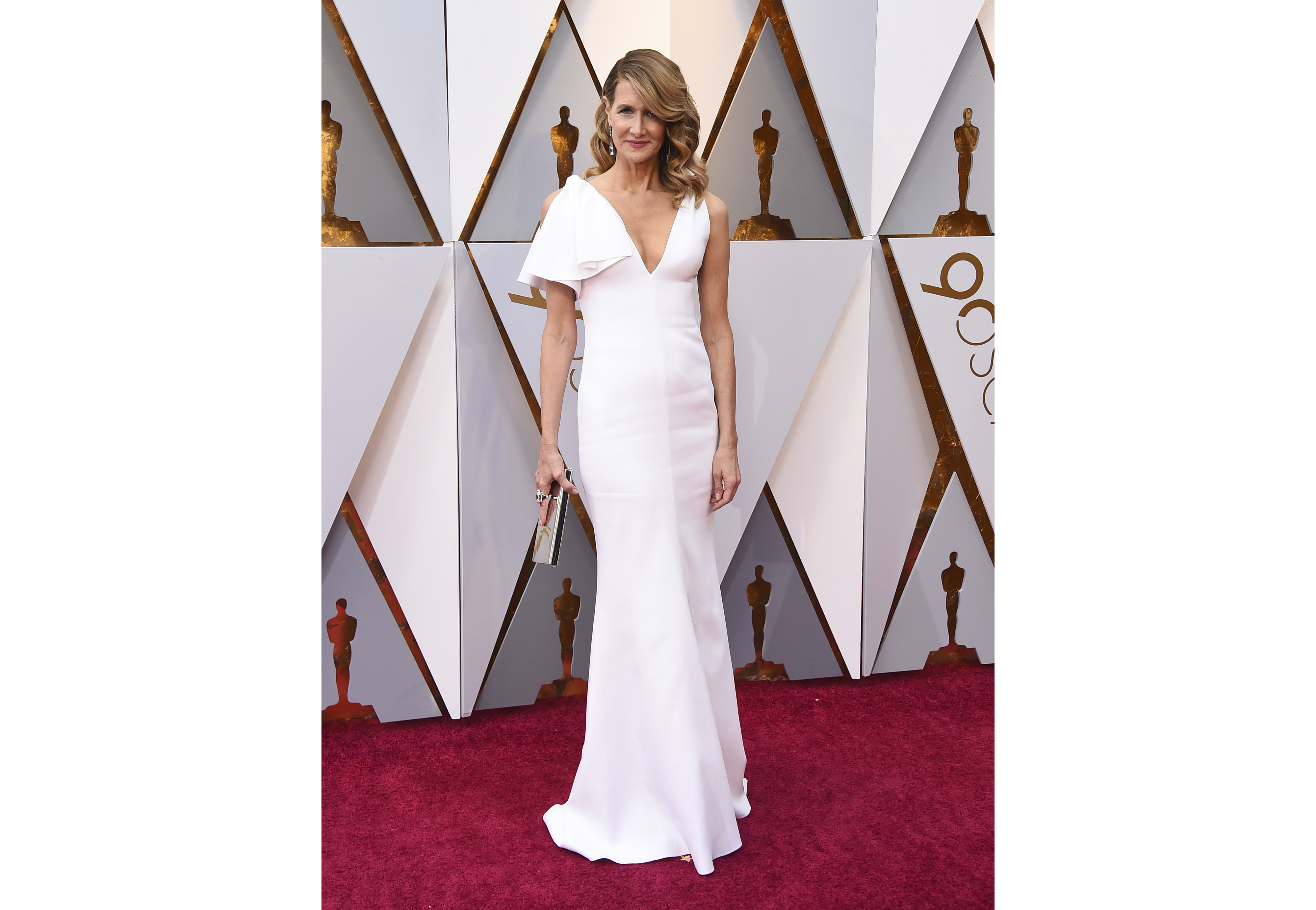 Laura Dern arrives at the Oscars on Sunday, March 4, 2018, at the Dolby Theatre in Los Angeles
