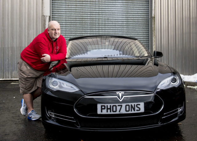 Chris Clarkson has donated his Tesla after four years of use (CSG CIC Glasgow Museums/PA)