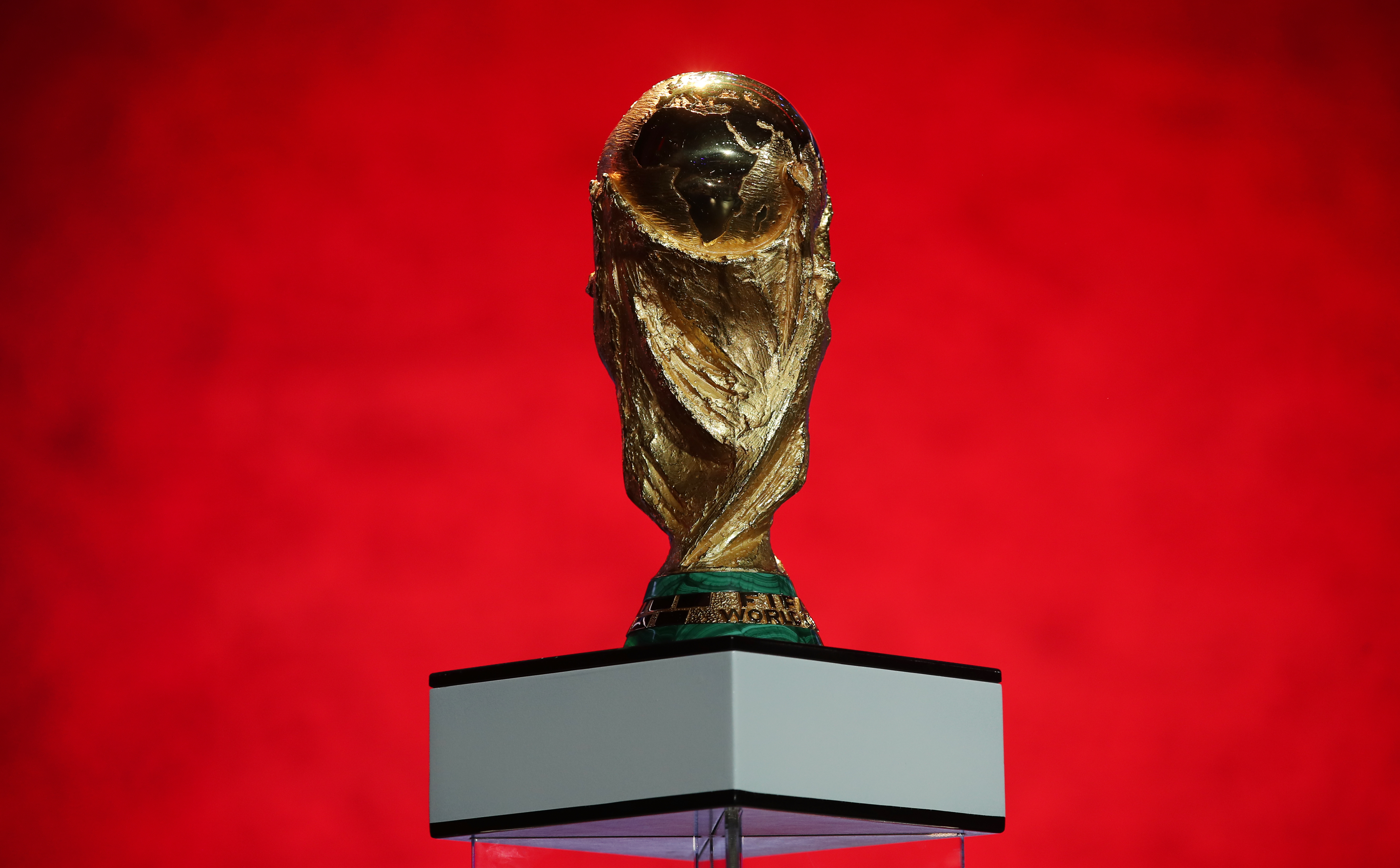The football World Cup trophy