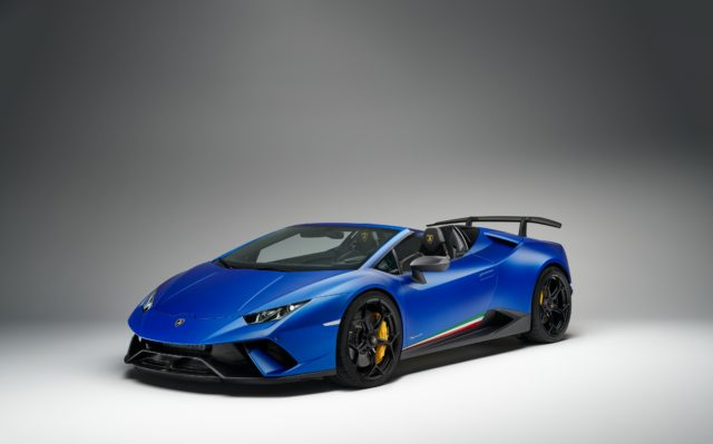 The Huracan Performante Spyder is powered by a V10 engine