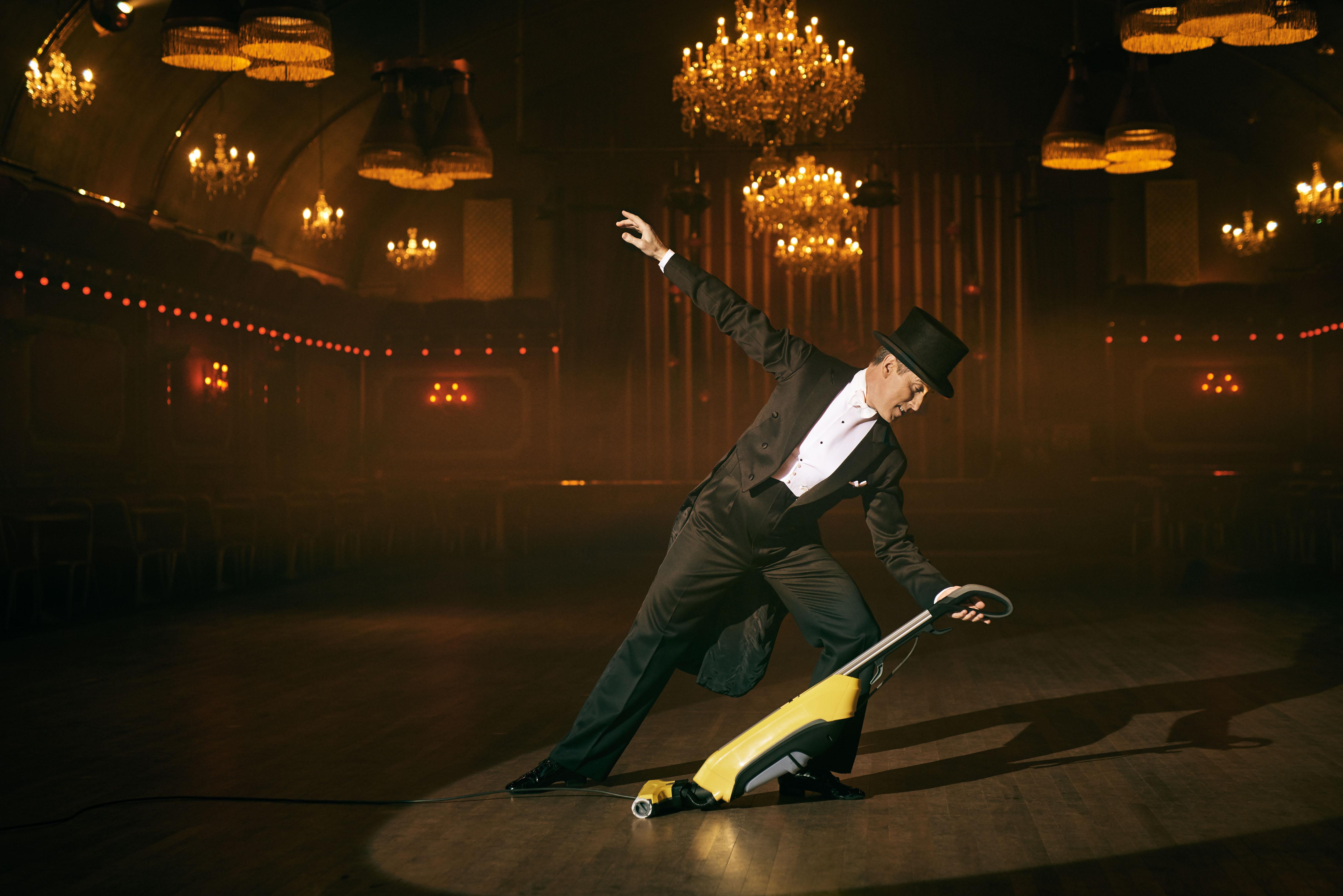 Anton Du Beke dances the Rivoli Ballroom to celebrate the joys of cleaning with K‰rcherís FC 5 Hard Floor Cleaner