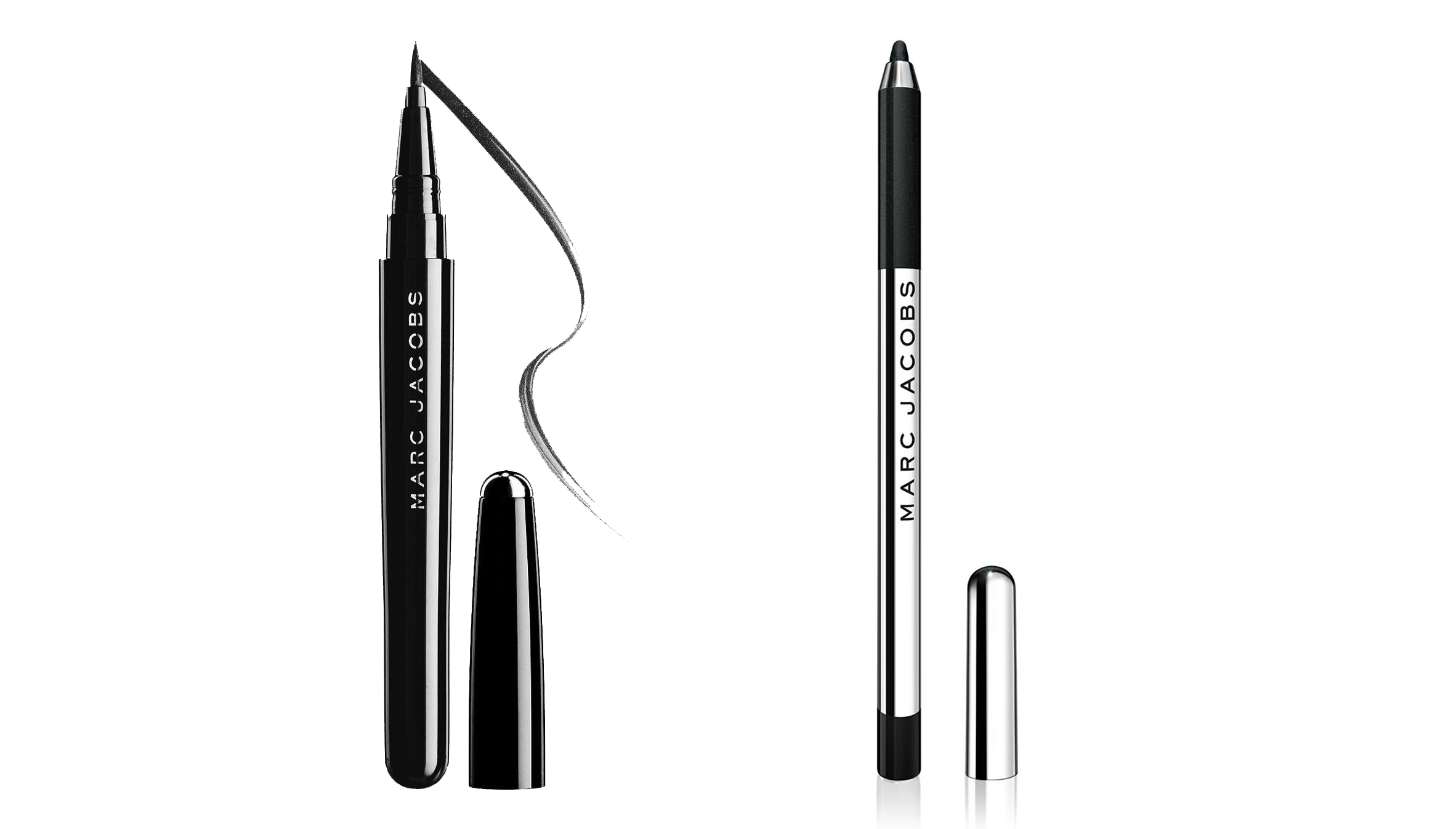 Marc Jacobs Highliner Gel Eye Crayon in Blacquer and Magic Marc'er Waterproof Liquid Eyeliner