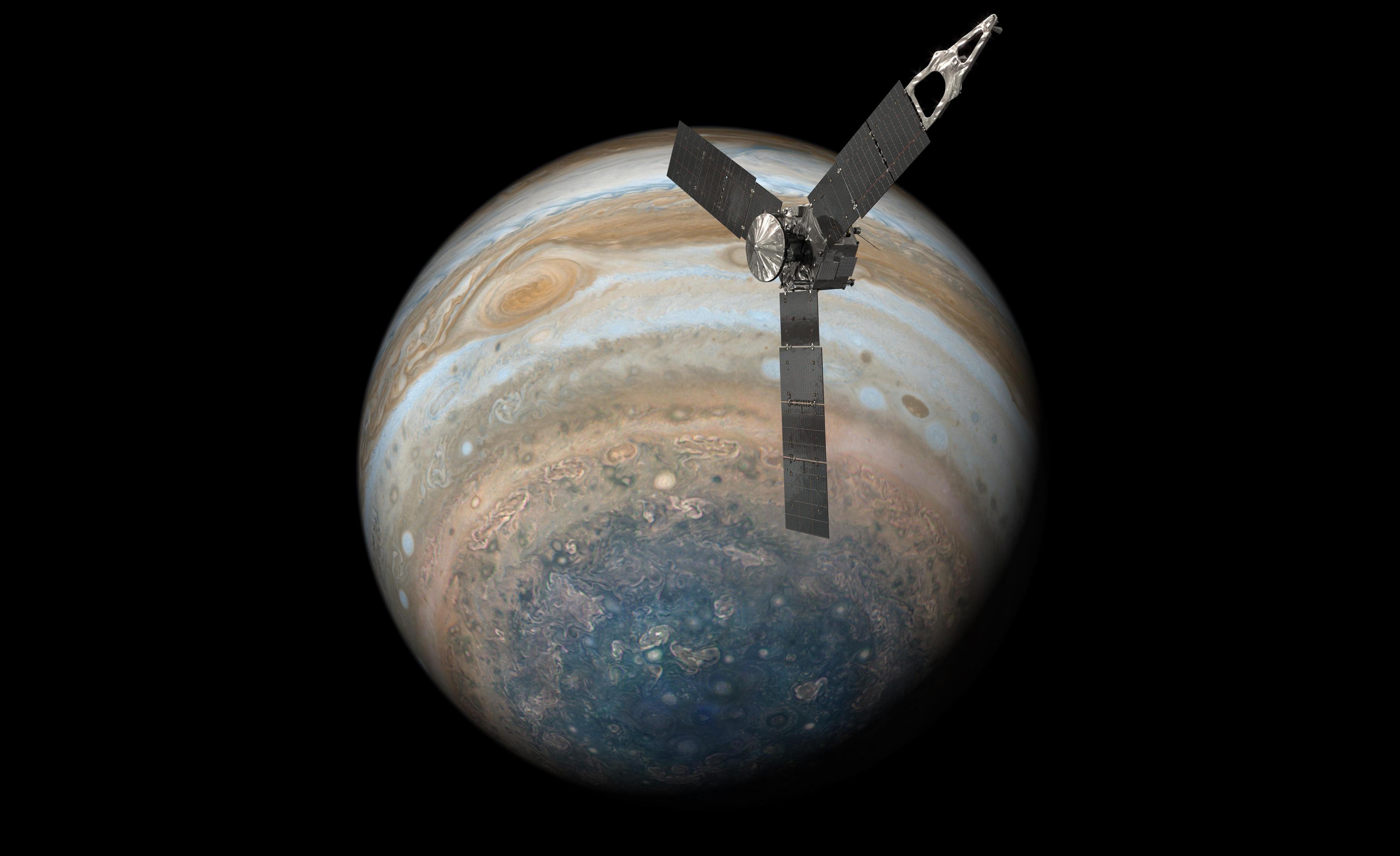 What's beneath Jupiter's cloud cover? NASA's Juno takes a sneak peek