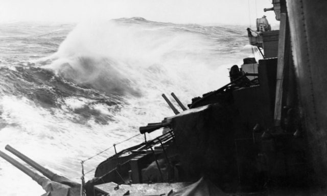 HMS Belfast's crew experienced treacherous conditions in the Arctic during the Second World War (IWM/PA)