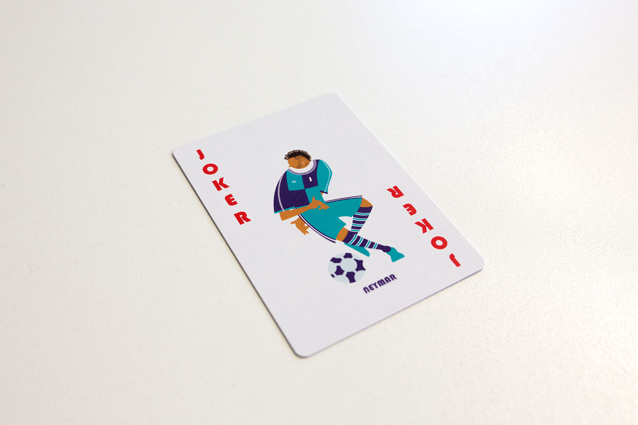A football playing card