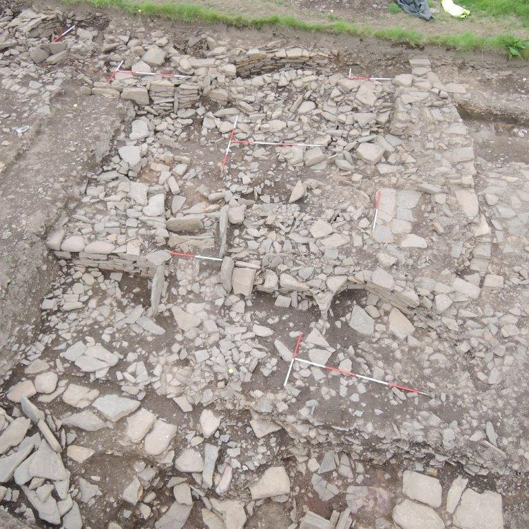 The remains of the structure where the jewellery-making took place (UHI/PA)