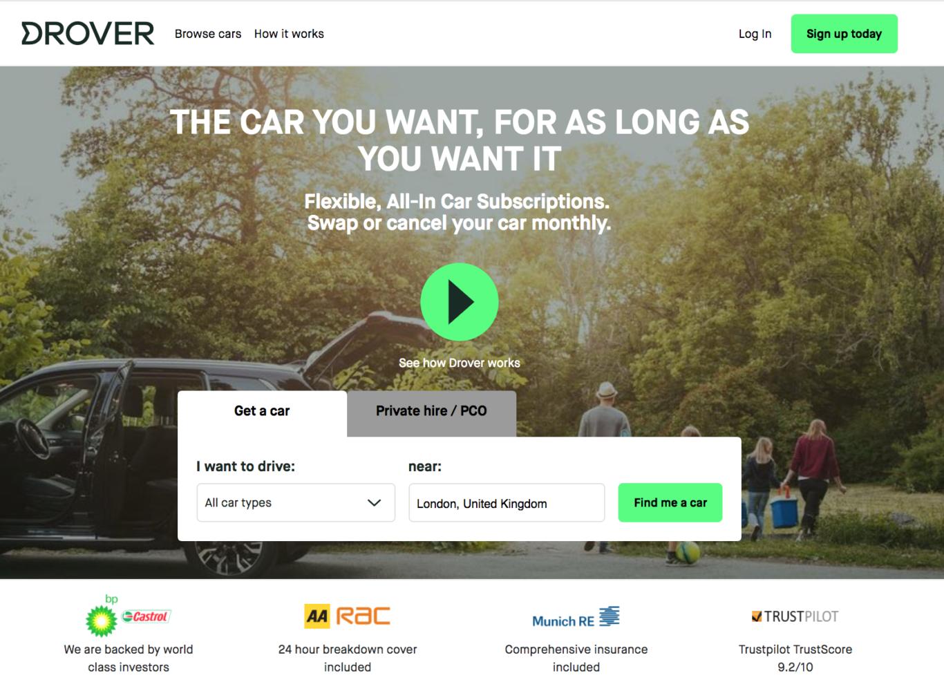 Car Subscription Service Receives Multi Million Pound