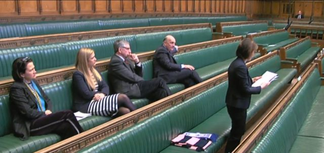 Two Dulwich Hamlet scarves were on the green benches in the Commons as Helen Hayes led a debate about the club's future
