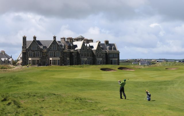 The Doonbeg golf course and hotel in Co Clare (Niall Carson/PA)