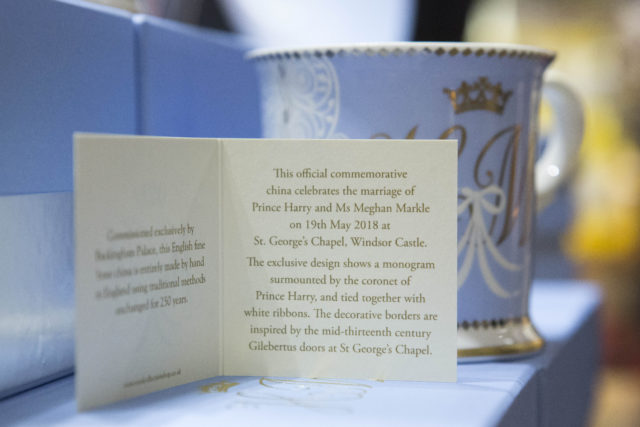 The card which comes with the new official range of china (Rick Findler/PA)