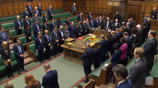 MPs observe a minute's silence on the first anniversary of the Westminster terror attack