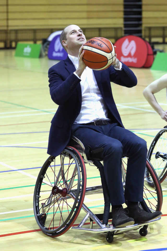 The Duke of Cambridge tries his hand at wheelchair basketball (Chris Jackson/PA)